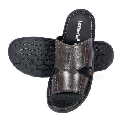 Leatherplus Black Slipon Sandal  for Men (12314)