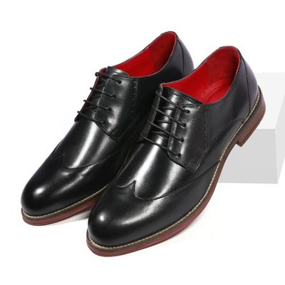 Leatherplus Black Formal Lace up Shoes for Men (12376)
