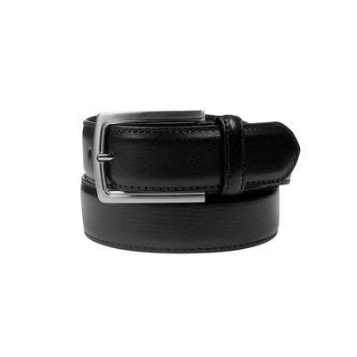 Leatherplus Black Belt for Men(C-35)