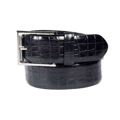 Leatherplus Black Belt for Men(C-187)