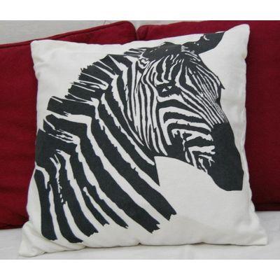 Zebra cushion cover
