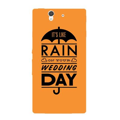 Rain wedding day mobile cover