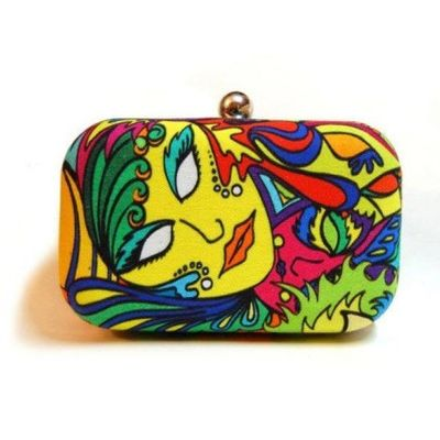 Eclectic clutch bag