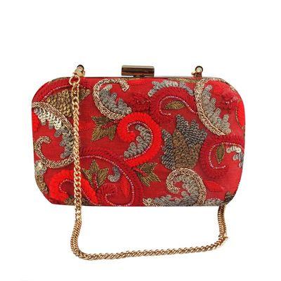 Sassy red  clutch