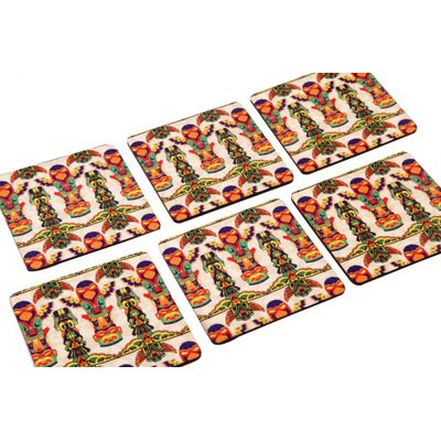 Totem coaster set (Set of 6)