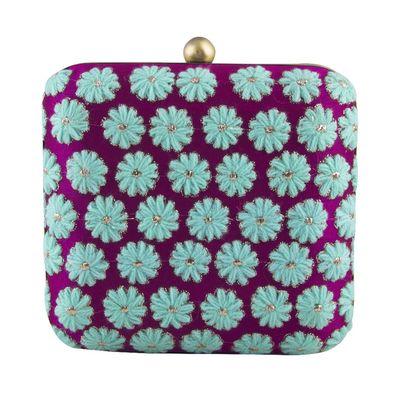 Feroze Floral clutch