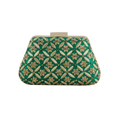 Green Trapeze clutch
