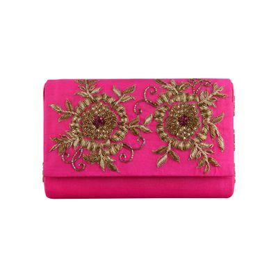 Pink jiggle clutch