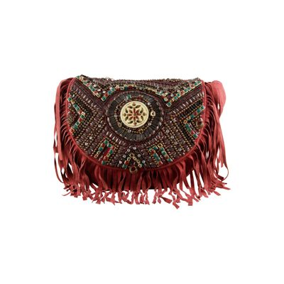 Vintage fringe rust bag