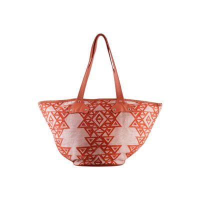 Orange Aztec Tote bag