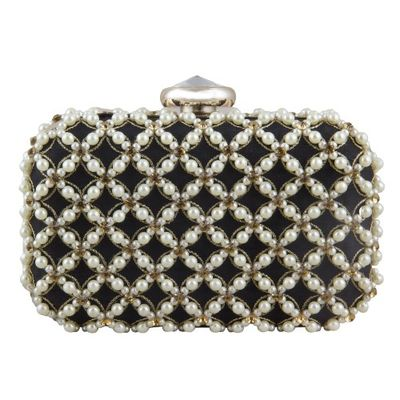 Pearl bead beauty clutch