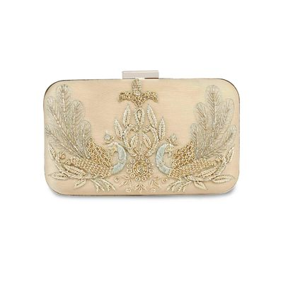 Gold Peacock clutch