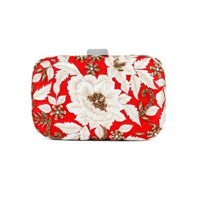 Red Rosanna clutch