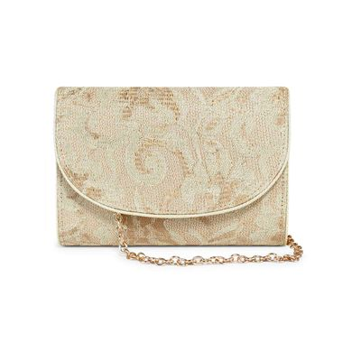 Golden net envelope clutch