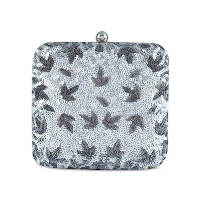 Silver Bling Box clutch