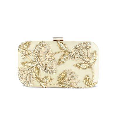 Golden sunshine box clutch