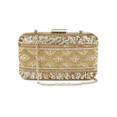 Golden fiesta box clutch