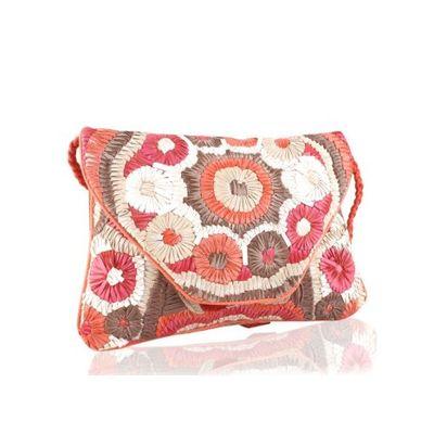 Ribbon flower sling bag