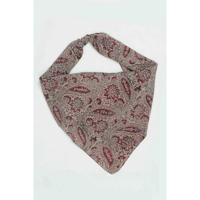 Tiekart men red paisley silk scarf