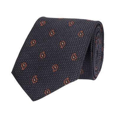 Tiekart men grey  woven silk tie