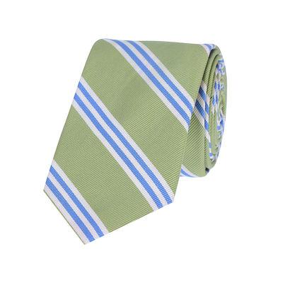 Tiekart men green striped silk tie
