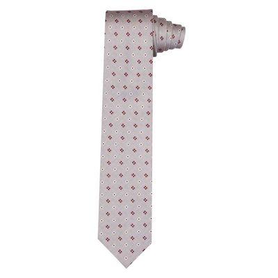 Tiekart men grey  woven silk tie