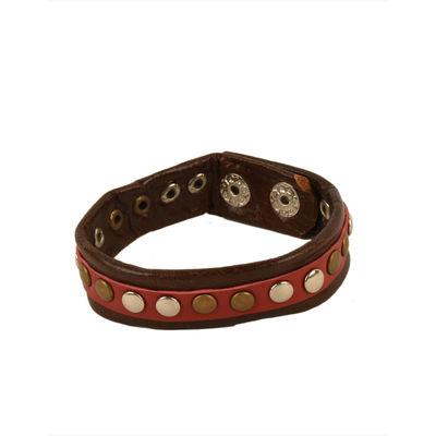 Tiekart men brown bracelet cuff