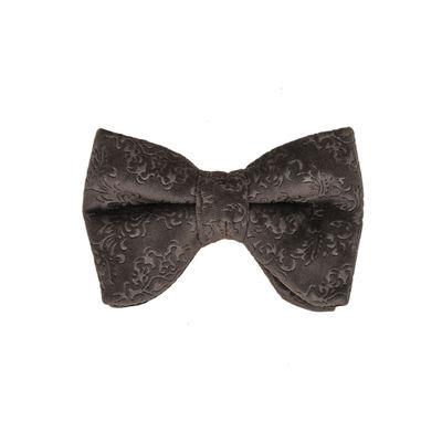 Tiekart men grey  velvet tuxedo bow tie