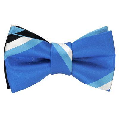 Woven silk-Buzzing blue