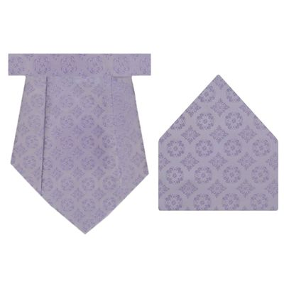 Tiekart cool combos purple floral  cravat+pocket square