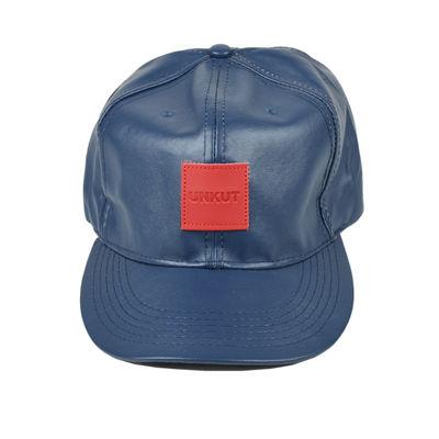 f21060d1602 Tiekart men blue plain solids leatherite caps