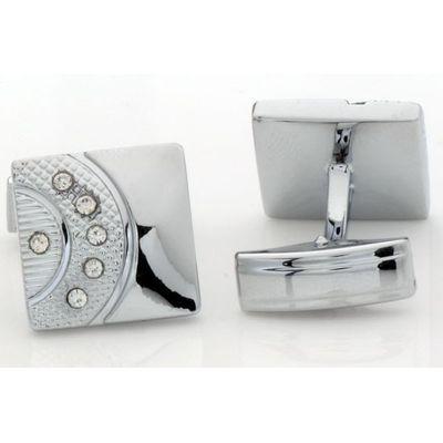 Tiekart men silver cufflink