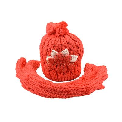 Tiekart women red paisely woollen cap