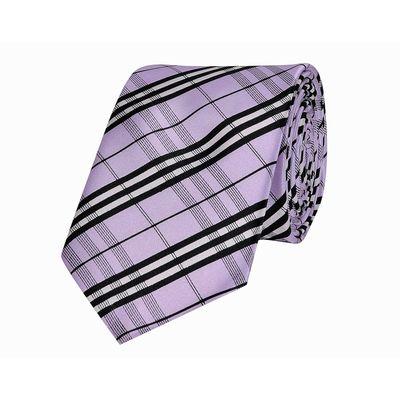 Tiekart men purple checked  skinny slim tie