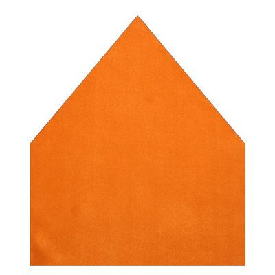 Tiekart men orange plain solids silk pocket square