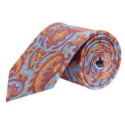 Tiekart men blue paisley silk tie