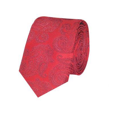 Tiekart men red paisley  skinny slim tie