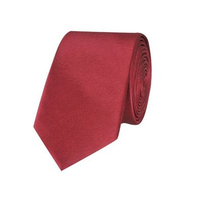 Tiekart men maroon plain solids skinny slim tie