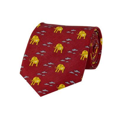 Tiekart men red ethnic silk tie