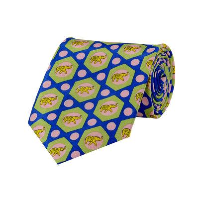 Tiekart men multi ethnic silk tie
