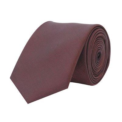 Tiekart men brown plain solids shiny shimmer  skinny slim tie