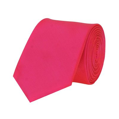 Tiekart men pink plain solids shiny shimmer  skinny slim tie