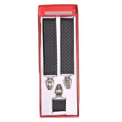 Tiekart men black suspenders