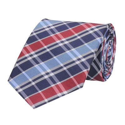 Tiekart men multi checked woven silk tie