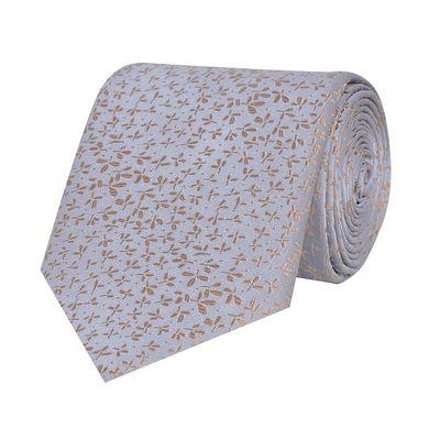 Tiekart men grey floral woven silk tie