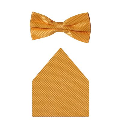 Tiekart cool combos yellow bow tie+pocket square