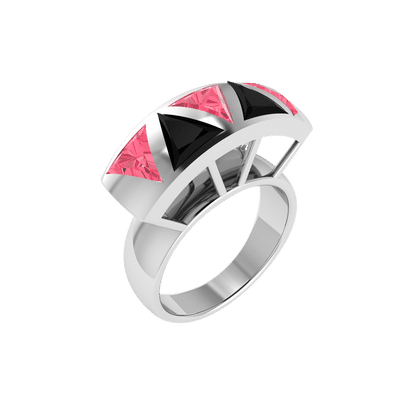 Ruby and Onyx cocktail ring
