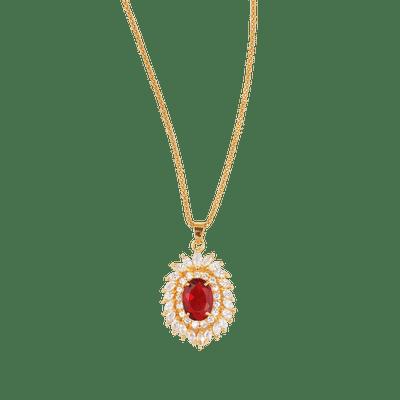 Beautiful Garnet Diamond Pendant