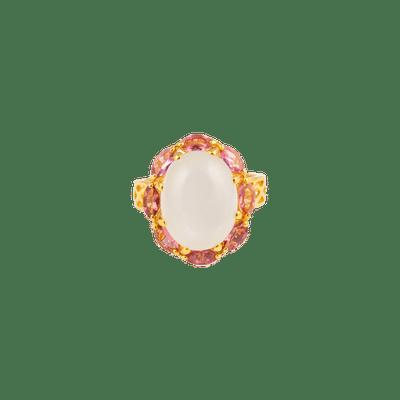 Moonstone & Tourmaline Gold Ring