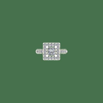 Princess cut square engagement ring